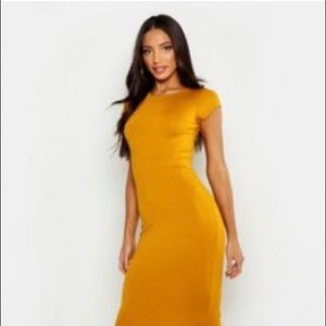 Boohoo Cap Sleeve Jersey Bodycon Dress